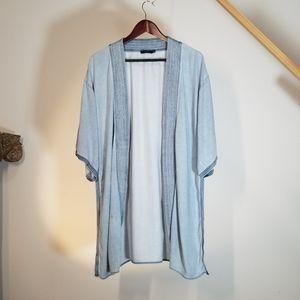 Aritzia Cardigan Overcoat Shawl Blue